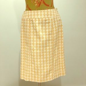 Orange and Cream Lightweight Skirt